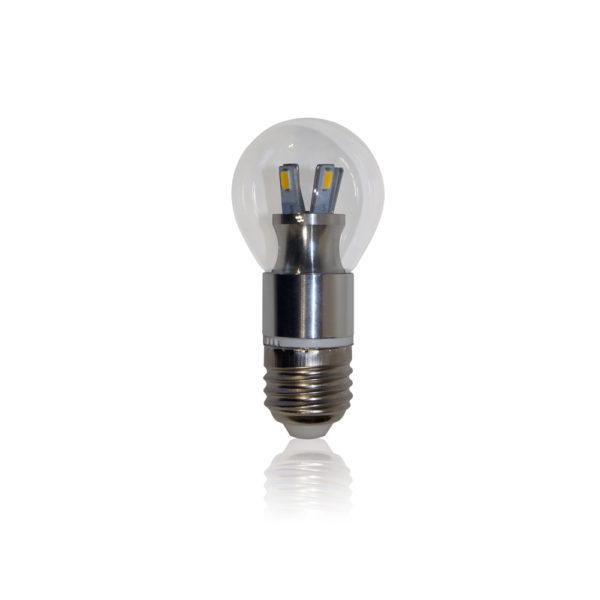 Светодиодная лампа 5Вт E27 G45 шар прозрачная