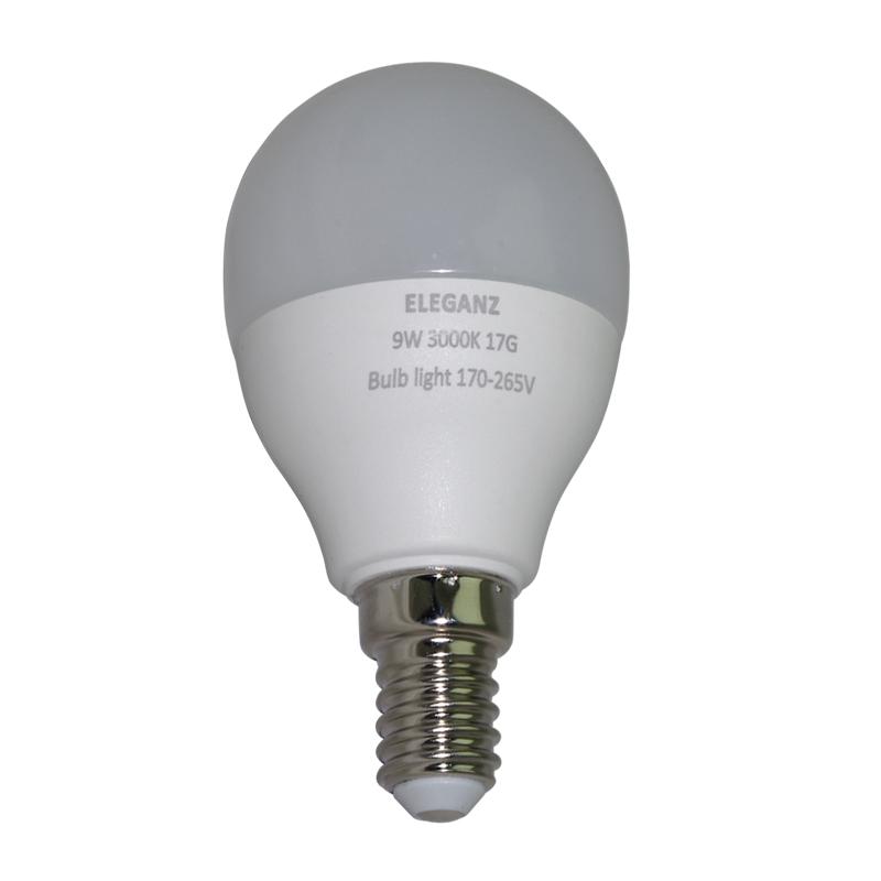 Светодиодная лампа 9 Ватт E14 шар