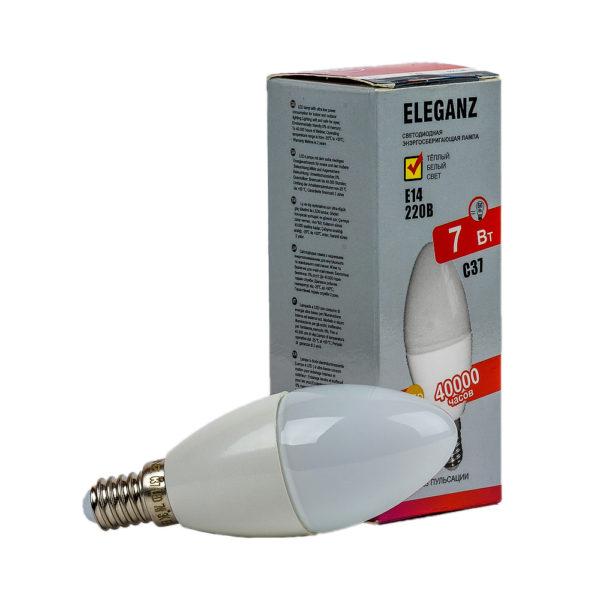 Светодиодная лампа E14 - 7Вт свеча Eleganz