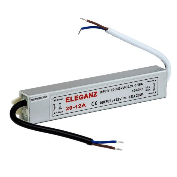 Блок питания герметичный 20Вт IP67 Eleganz