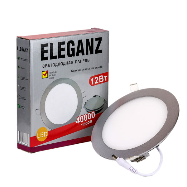 Светодиодная панель круглая 12Вт Eleganz