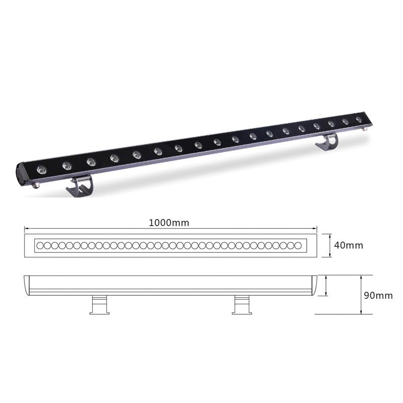Архитектурный линейный LED светильник el-LS-XQ-1005