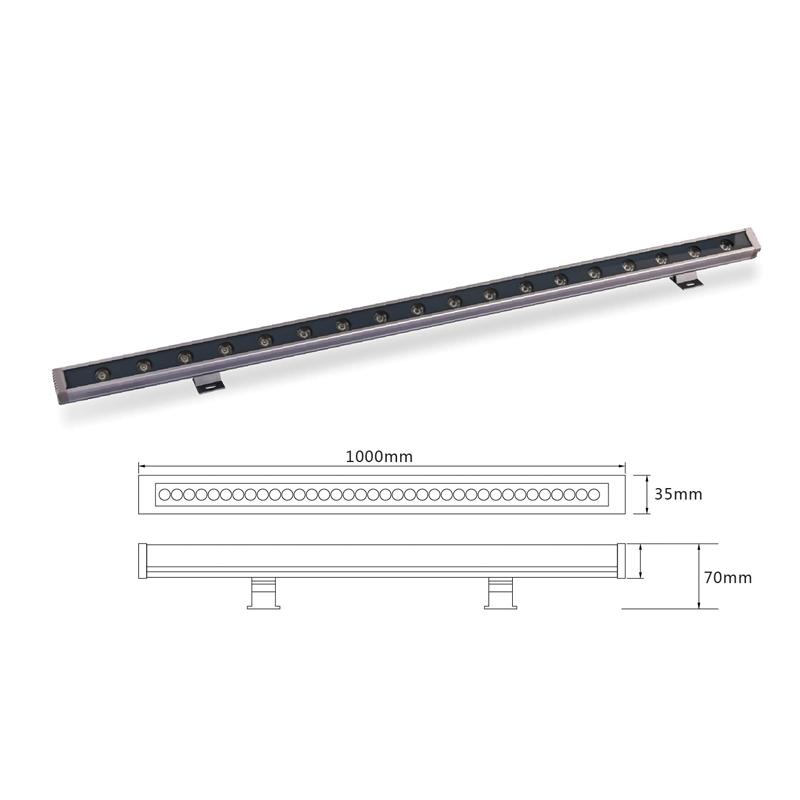 Архитектурный линейный светодиодный светильник el-LS-XQ-1008