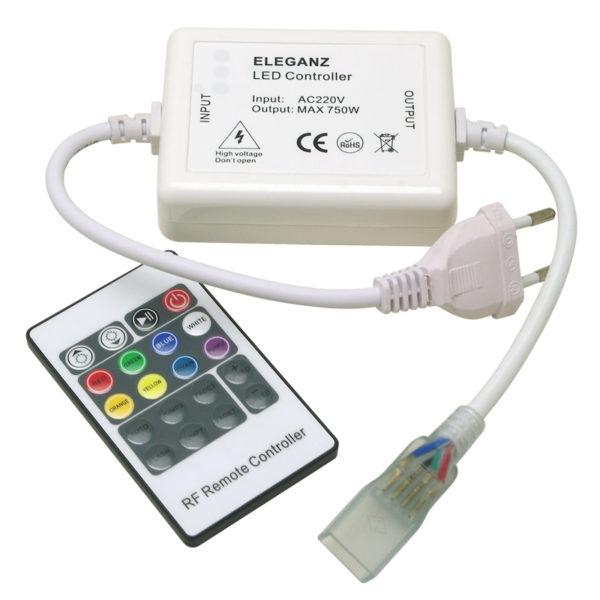 Контроллер кнопочный для RGB ленты 220V(50 метров) радио