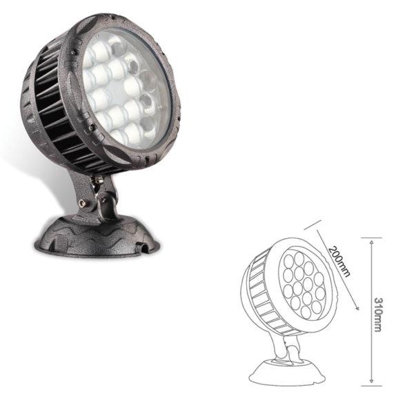 Прожектор заливающего света el-LS-TG-3019