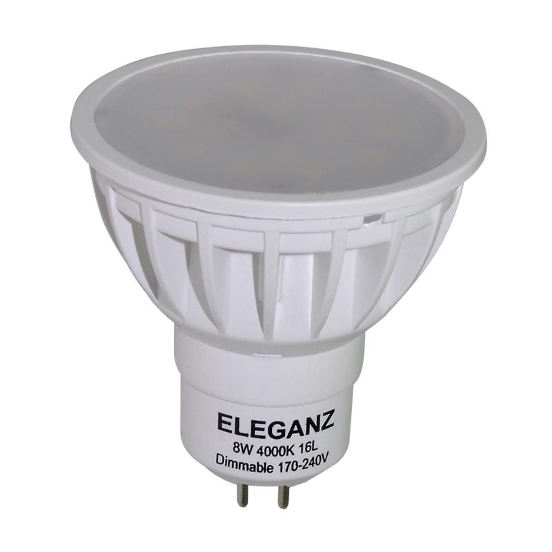 Светодиодная лампа GU5.3 8Вт с линзой димм.