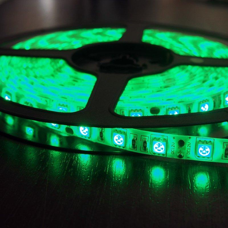 Светодиодная лента 9,6Вт 12V Зеленая . Закажите по телефону