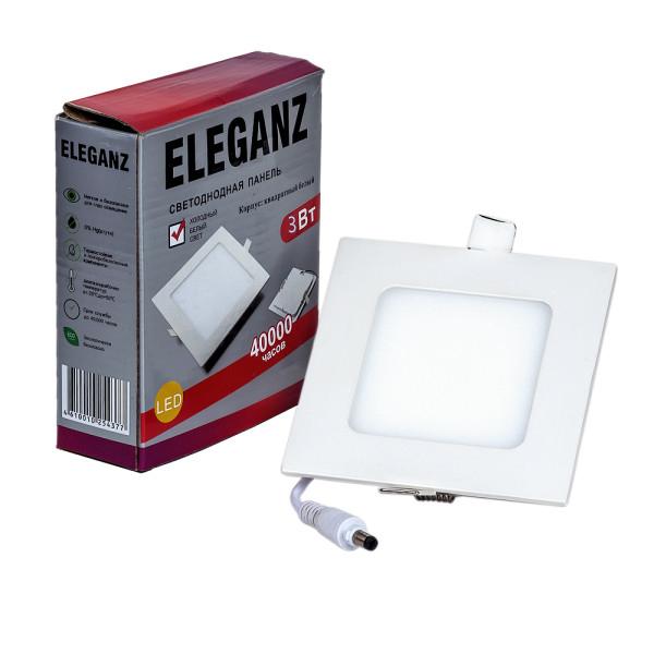 Светодиодная панель 3 ватт квадратная Eleganz