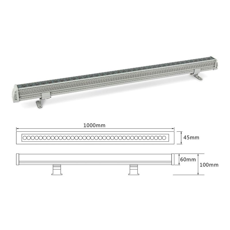 Линейный LED светильник архитектурный el-LS-XQ-1001