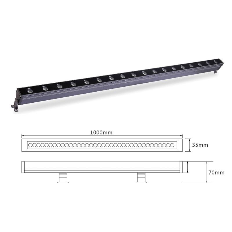 Архитектурный линейный LED светильник el-LS-XQ-1006