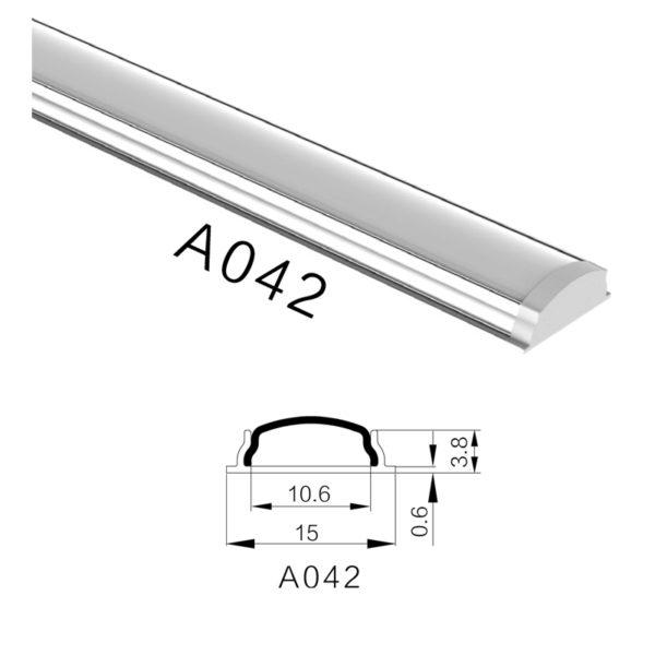 Гибкий профиль H-A042 15X4.4мм