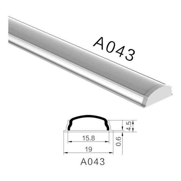Гибкий профиль H-A043 19X5.1мм