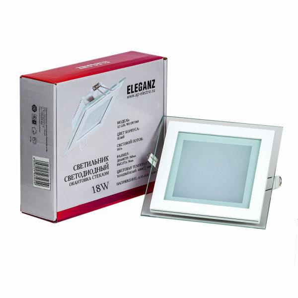 Светодиодный светильник квадратный 18Вт Eleganz